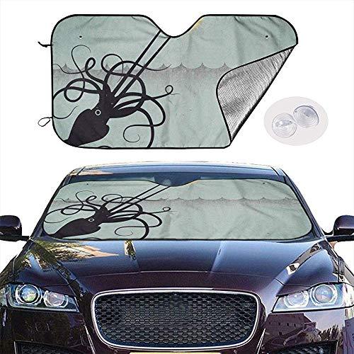 KDU Fashion winterbescherming voor voorruit, decoratieve rolgordijnen voor autoraam, parasol, voor auto, 70 x 130 cm