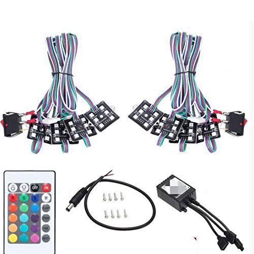 Nuevo LED BETGLOW RGB Rock Lights Multicolor Neon Strip Light Kit para el Control Remoto de camión Fuera de Carretera LED LED
