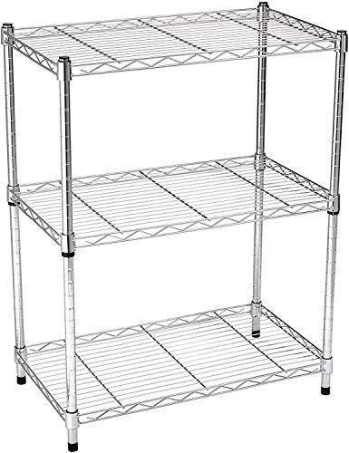 Target Heavy Duty Storage Shelving Unit (250 lbs Loading Capacity per Shelf), 3-Shelf Adjustable, Steel Organizer Wire Rack, Chrome (23.3L x 13.4W x 30H)