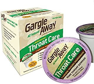 Gargle Away by Nature's Jeannie - Natural Sore Throat Remedy, Vocal Care, Mucus Relief, Cough Suppressant Medicine for Adults in K-Cups