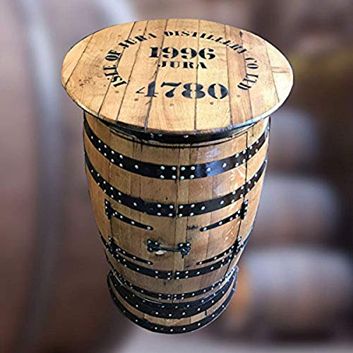 Massief eiken gerecycled eiland van de Jura Whisky Barrel Drinks Cabinet | Pub tafel | Opslag