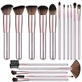 BESTOPE Makeup Brushes 16 PCs Makeup Brush Set Premium Synthetic Foundation Brush Blending Face Powder Blush Concealers Eye Shadows Make Up Brushes Kit (Purple)
