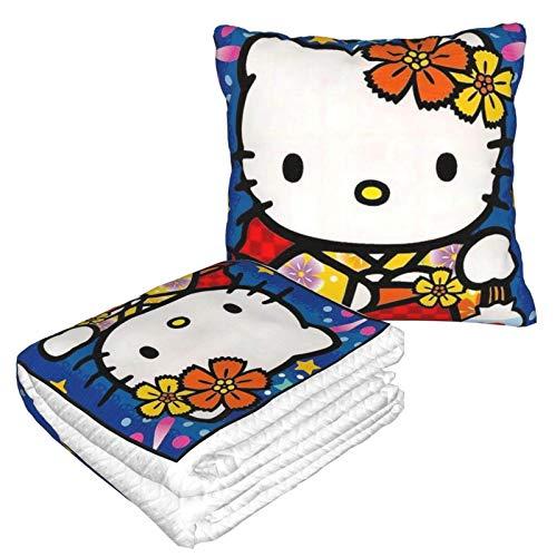Hello Kitty in Kimono - Manta de almohada para el hogar, dormitorio, sofá, coche, interior, exterior, camping, mujeres y hombres
