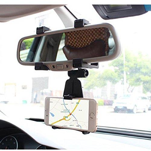 System-S KFZ Auto Rückspiegel Halterung Halter Haltearm für Navi Handy Smartphone und andere Geräte