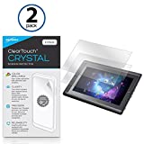 BoxWave Wacom Cintiq Companion Hybrid DTH-A1300 Screen Protector, [ClearTouch Crystal (2-Pack)] HD Film Skin - Shields from Scratches for Wacom Cintiq Companion Hybrid DTH-A1300, DTH-W1300