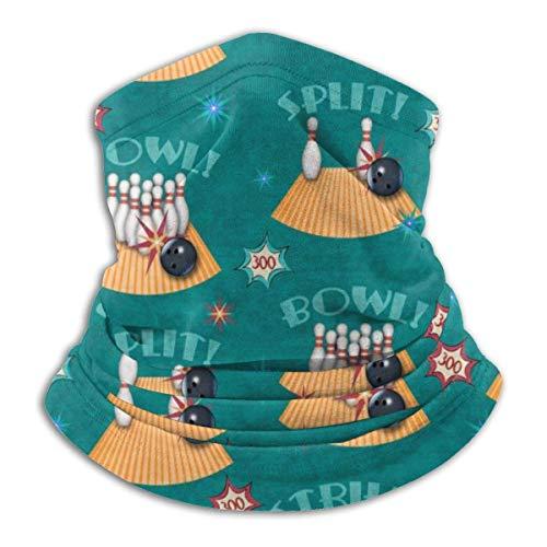 OUY Bowling Lingo Dunkel Atmungsaktiver Nackenschutz Beinschutz Gesichtsmaske Gesichtsschal Turban Sturmhaube Hut Schal Herren Damen Gesichtsmaske