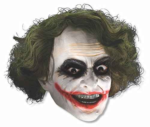 Batman The Dark Knight The Joker Child Mask with Hair (Colors may vary) by Rubie's