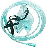 Kacsoo Máscara de oxígeno para adultos para generador de oxígeno con tubo de forma anatómica suave (máscara de oxígeno para adultos)