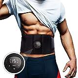 EMS 腹筋ベルト 腹筋パッド EMS ベルト 腹筋マシン器具 液晶表示 タッチパネル USB充電式 6種類モード 15段階強度 男女兼用