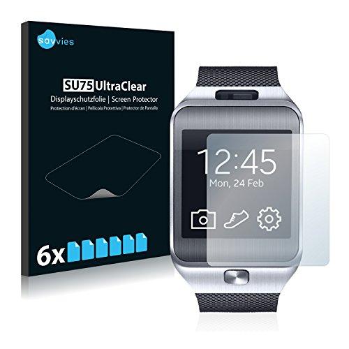 savvies 6-Pezzi Pellicola Protettiva Compatibile con Samsung Galaxy Gear 2 Neo SM-R381 Protezione Schermo Trasparente