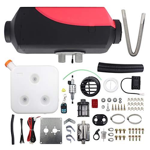 Snowtaros 12V Calefacción Estacionaria, 5KW Calentador de Aire Diesel con Monitor LCD, para Automóvil, Camiones, Barco, Autobús, Remolques (EU Stock)