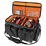 Trunab DJ Cable File Bag with Detachable Padded Bottom and Dividers, Travel Gig Bag for Professional DJ Gear, Musical Instrument and Accessories