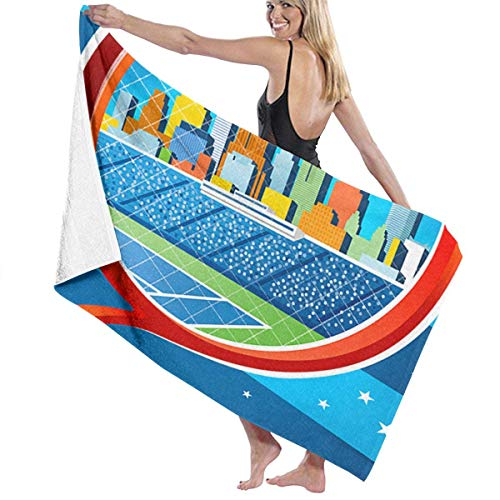 MKLQ Toalla Tennis Open US Crazy Sand Free Quick Dry Beach Towel Microfiber Sports Pool Lightweight Thin Towels for Swimming,Yoga,Camping and Outdoor Girls Women Men Adults 32 x 52 Inch