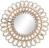 HFFFHA Espejo de tocador Innovador Art Deco Espejo Redondo Equipo de decoración del hogar Sala de Estar Espejo Colgante de Pared Cocina