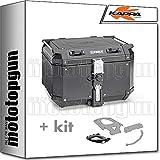 kappa maleta kfr480b k'force 48 lt + portaequipaje monokey compatible con honda xl 650 v transalp 2000 00