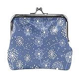 BGHYT Monedero Make Wish Blowball Dandelio Azul Monedero Monedero Bolsas de Cuero Portatarjetas Tarjeta de Embrague Bolso