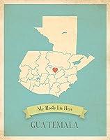 壁マップ、My RootsグアテマラPersonalized壁マップ、Kid 's Guatemalaマップ壁アート、壁アート印刷、保育園インテリア、保育園ウォールアート 12x18 roocouGUA1218.m