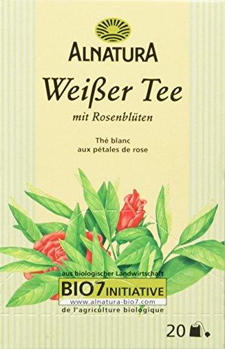 Alnatura Weißer Tee mit Rosenblüten, 6er Pack (6 x 30 g)