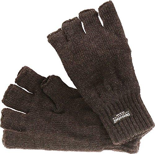 Harrys-Collection Halbfinger Handschuh mit Thinsulate Futter in 2 Farben, Farben:dunkelgrau, Handschuhgröße:M/L