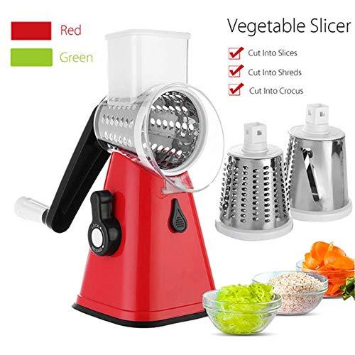 Ze 3 Blades Manual Vegetable Cutter Slicer Multifunctional Round Slicer Shredder Potato...