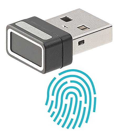 Xystec Fingerabdrucksensor: Kleiner USB-Fingerabdruck-Scanner für Windows 10, 10 Profile (Fingerprintsensor)