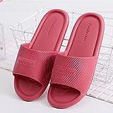Zapatillas Casa Chanclas Sandalias Zapatos Mujer Sandalias Planas Hombres Mujeres Zapatillas De Interior para El Hogar Chanclas Sólidas Zapatillas De Baño Antideslizantes Zapatos Femeninos-New_Re