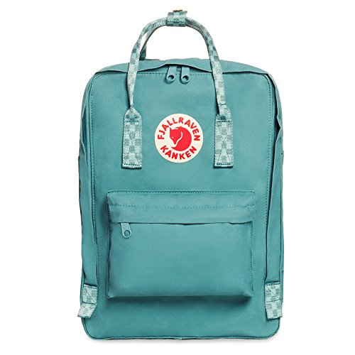 "Fjallraven, Kanken Laptop 15"" Backpack for Everyday, Frost Green/Chess Pattern"