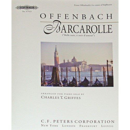 Edition Peters - Barcarole aus Hoffmanns Erzählungen für Klavier Offenbach