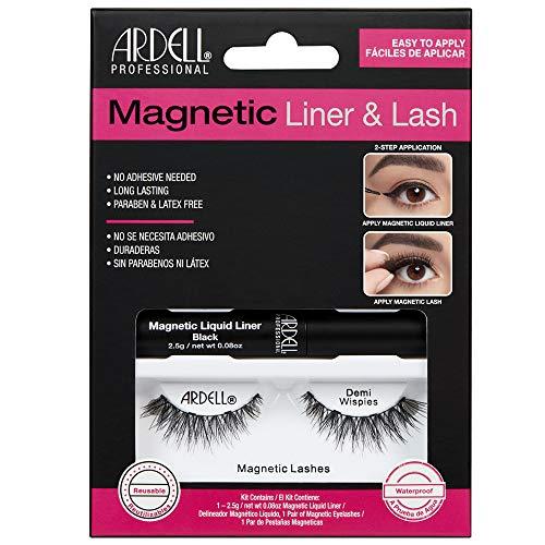 Ardell Magnetic Liquid Liner & Lash - Wimpern mit flüssigem magnetischem Eyeliner (Demi Wispies)