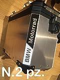 N.2 pz. RIFRANGENTI REFLECTIVE MOTORRAD R1200 R1250 STICKERS ADESIVI NERO/BIANCO BLACK/WHITE