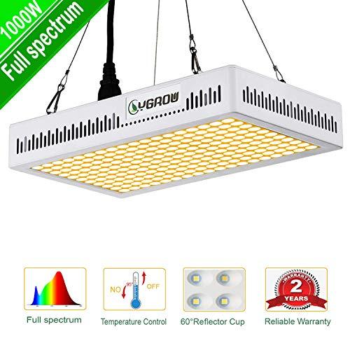 LED Grow Light 1000W,YGROW Plant Light Full Spectrum 3500K for Indoor Plants,Garden,Flowers,Fruits,Vegetables,Greenhouse