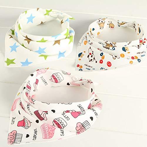 10 Stks Baby Dribble Bib Kids Baby Feeding Hoofd Sjaal Handdoek Bib Jongen Meisje Bandana Saliva Driehoek Dribble Willekeurige Kleur 40cm*29cm