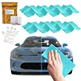 8 Pack-Upgraded Nano Magic Car Scratch Remover Cloth, Multifunctional Scratch Repair Cloth, Nanomagic Cloth for Car Paint Scratch Repair, Individually packaged and presented with eight gloves (Blue)