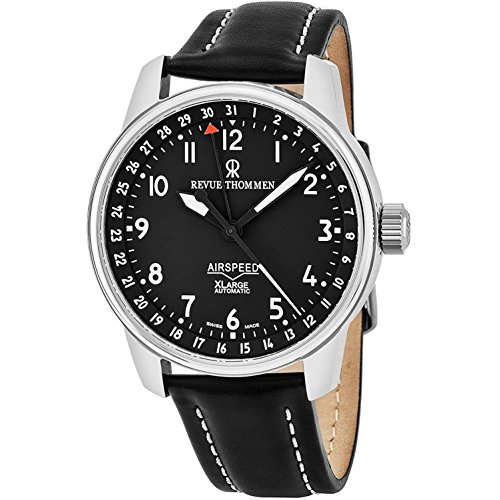 Revue Thommen Men's 41mm Leather Band Steel Case Automatic Watch 16050.2537