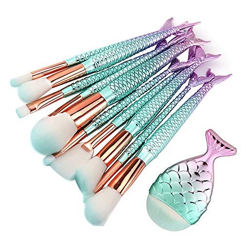 Maquillage Pinceaux Set Lot de 11 pinceaux de maquillage professionnels Brosses à Cosmétiques pour Visage, Ombre à Paupières, Blush, Poudre Libre, Sourcils