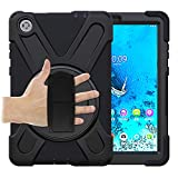 Case for Lenovo Tab M8 HD/Smart Tab M8 / Tab M8 FHD 2019 Case, 360° Rotating Stand, Adjustable Handle (Black)