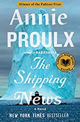 book cover for The Shipping News by Annie Proulx, iceberg in ocean