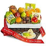 Merry Christmas Deluxe Fruit Basket