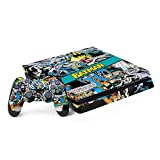 Skinit Decal Gaming Skin Compatible with PS4 Slim Bundle - Officially Licensed Warner Bros Batman Comic Book Design