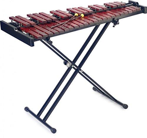 Stagg XYLO-SET 37 HG - Juego de xilófono de 37 notas, soporte y funda, color marrón