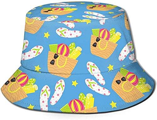 DUTRIX Zapatillas de Concha de Playa Verde Sombrero de Cubo con Estampado...