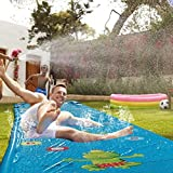 Water Slides Slip,Water Slide Inflatable for Kids and Adults,Inflatable Toy Water Splash Pad Water Slide,Thickening Huge Waterslide with Crash Pad 14x3.58 ft