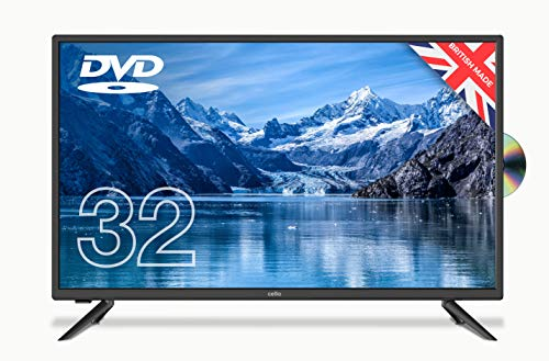 """Cello ZF0223 32"""" inch HD Ready LED Built in DVD with Freeview HD Made in the UK Black"""