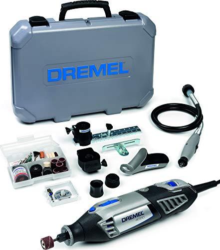 Dremel Platin Edition 4000 Multifunktionswerkzeug 175W, Set mit 4 Vorsatzgeräten, 65 Zubehörteilen, Variable Drehzahl 5.000-35.000 U/min zum Schneiden, Schnitzen, Bohren, Gravieren, Schleifen