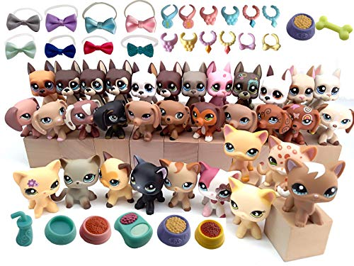 USALPS lps Rare Figures 5pcs Random and 10pcs Random lps Accessories lps Collie Great Dane Dachshund Cocker Spaniel Short Hair Cat Suprise Package