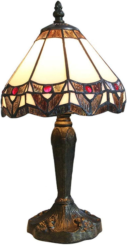 WZJ-TISCHLEUCHTE Europische Harz-Schreibtischlampe, Schlafzimmer-Wohnzimmer-romantische dekorative Tischlampe (Gre   39X20X20 cm)
