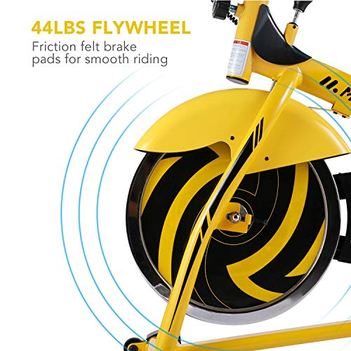 MaxKare Stationary Bike Belt Drive Indoor Cycling Bike 44lbs Flywheel