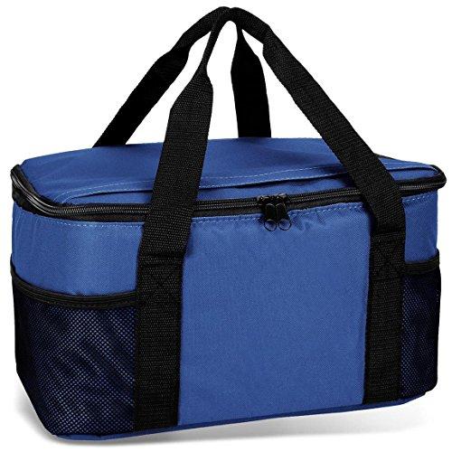 noorsk Kühltasche 20 Liter Einkaufstasche Strandtasche Picknicktasche Kühlbox Picknickkorb in vielen Farben - blau