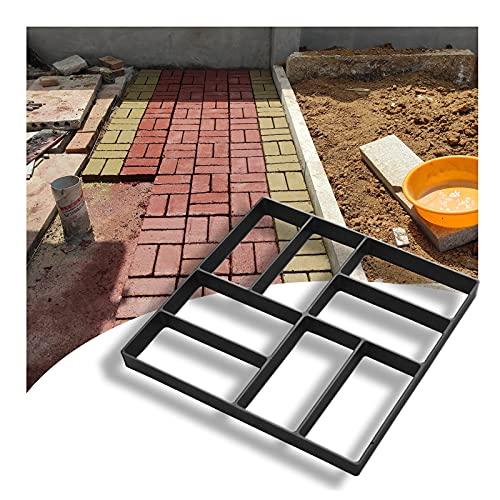 JIANFEI Walk Maker Reutilizable, Bricolaje Moldes Hacer Caminos Concreto para Césped Patio Yarda Jardín Pavimentadora Piedra Escalonada, Pasarela Pavimentación Formulario