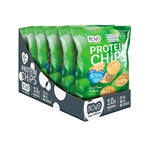 Novo Nutrition Protein Chips Sour Cream Onion - 6 unid. x 30 gr